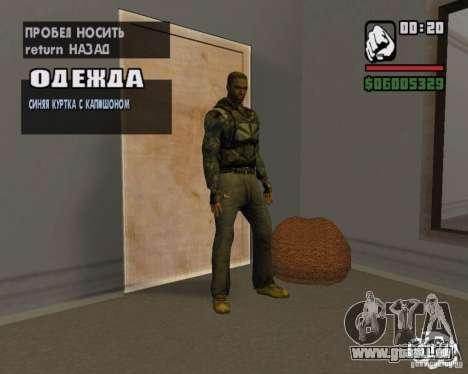 Vêtements d'un harceleur pour GTA San Andreas cinquième écran