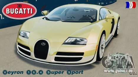 Bugatti Veyron 16.4 Super Sport 2011 v1.0 [EPM] für GTA 4