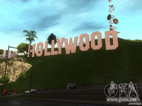 Le signe Hollywood pour GTA San Andreas troisième écran