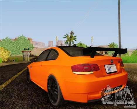 BMW M3 GT-S für GTA San Andreas Rückansicht