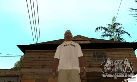 LP shirt white für GTA San Andreas