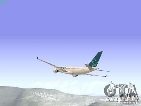 Airbus A330-200 Air Transat pour GTA San Andreas vue de droite