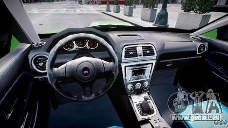 Subaru Impreza STI Wide Body pour GTA 4 est un droit