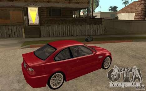 BMW M3 CSL pour GTA San Andreas vue de droite