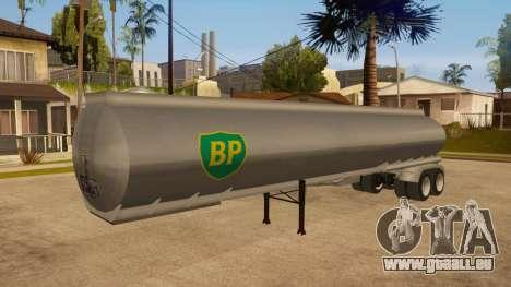 Auflieger tank für GTA San Andreas obere Ansicht