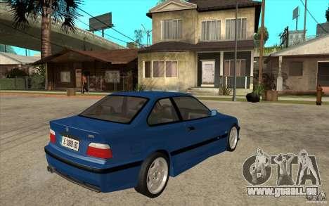 BMW M3 E36 1997 pour GTA San Andreas vue de droite