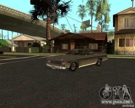 Chevrolet El Camino 1973 pour GTA San Andreas laissé vue