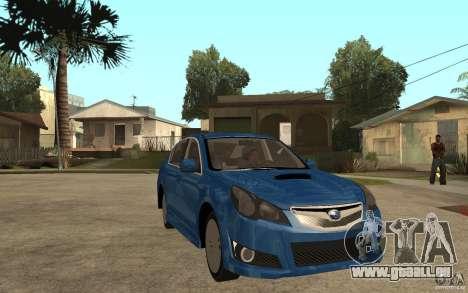 Subaru Legacy B4 2.5GT 2010 pour GTA San Andreas vue arrière
