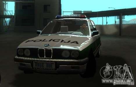 BMW E30 Sedan Police pour GTA San Andreas