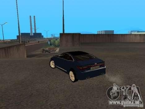 Hyundai Azera 2012 pour GTA San Andreas laissé vue