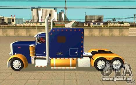 Peterbilt 359 Custom pour GTA San Andreas laissé vue