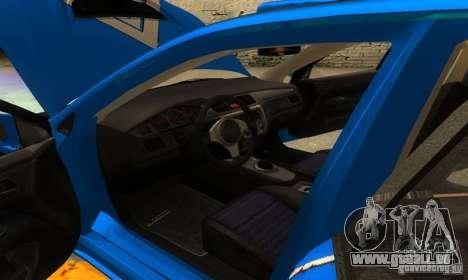 Mitsubishi Lancer Evo 8 Tunable pour GTA San Andreas vue de dessous