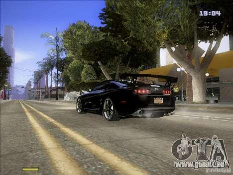 Toyota Supra v2 (MyGame Drift Team) pour GTA San Andreas sur la vue arrière gauche