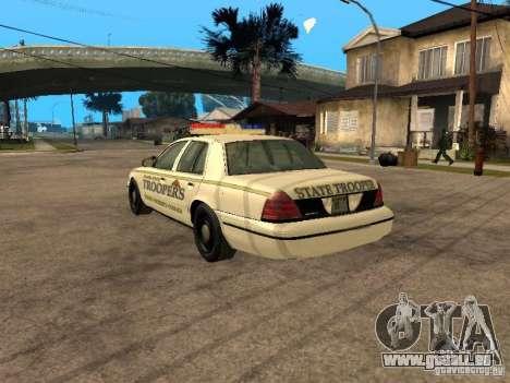 Ford Crown Victoria 2003 Police für GTA San Andreas linke Ansicht