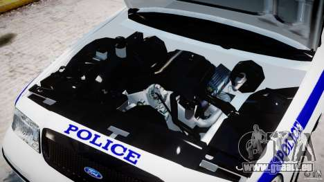 Ford Crown Victoria NYPD pour GTA 4 est une vue de l'intérieur