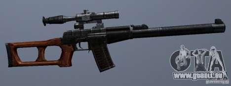 VSS Vintorez pour GTA San Andreas quatrième écran