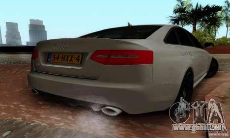 Audi RS6 2009 pour GTA San Andreas laissé vue