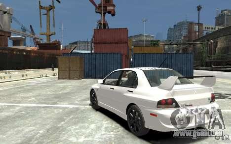 Mitsubishi Lancer Evolution IX 2010 für GTA 4 hinten links Ansicht