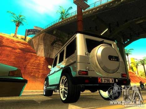 Mercedes-Benz G500 ART pour GTA San Andreas sur la vue arrière gauche