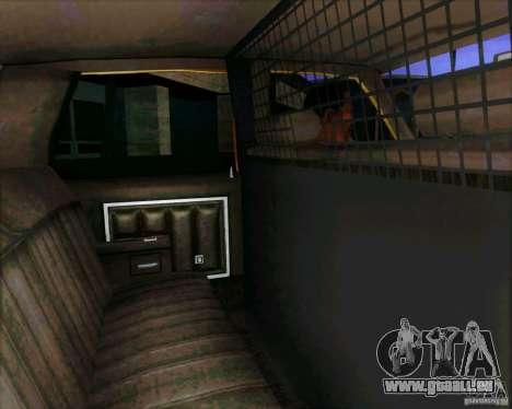 Chevrolet Impala 1986 Taxi Cab für GTA San Andreas Rückansicht