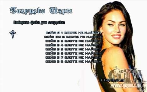 Écrans de démarrage Megan Fox pour GTA San Andreas cinquième écran