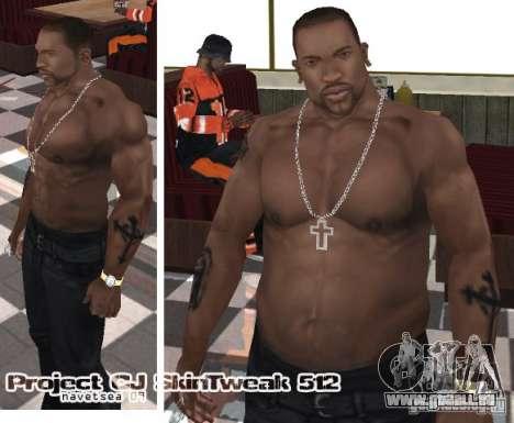 Navetsea CJ Skin Tweak 512 r2 pour GTA San Andreas troisième écran