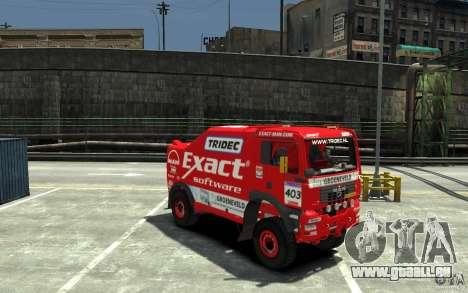 MAN TGA Rally Truck für GTA 4 Rückansicht