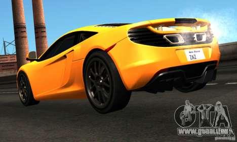 McLaren MP4-12C TT Black Revel pour GTA San Andreas sur la vue arrière gauche
