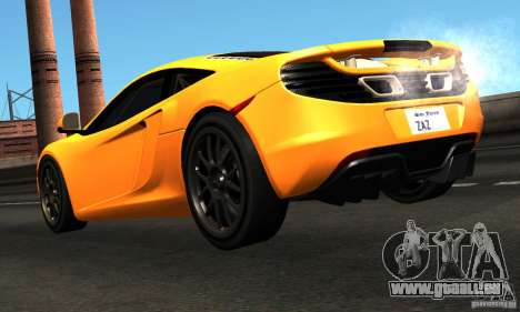 McLaren MP4-12C TT Black Revel für GTA San Andreas zurück linke Ansicht