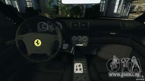 Ferrari F355 F1 Berlinetta pour GTA 4 Vue arrière