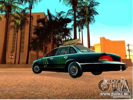 Ford Crown Victoria Taxi pour GTA San Andreas vue arrière