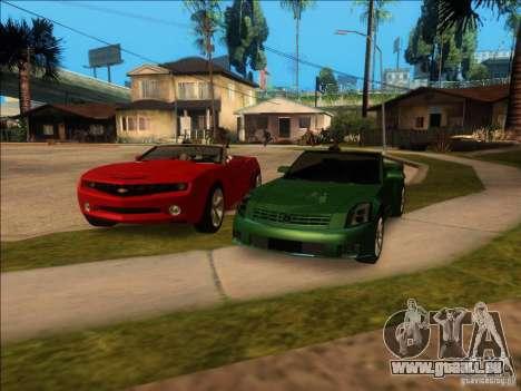 Cadillac XLR pour GTA San Andreas vue de dessous