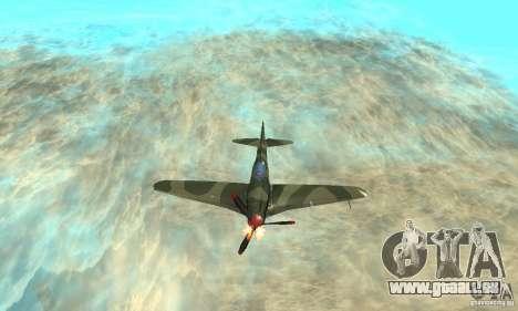 Jak-9 during WORLD WAR II für GTA San Andreas obere Ansicht