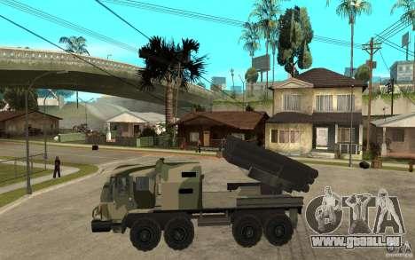 Missile Launcher Truck pour GTA San Andreas laissé vue