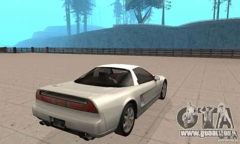 Acura NSX 1991 pour GTA San Andreas laissé vue