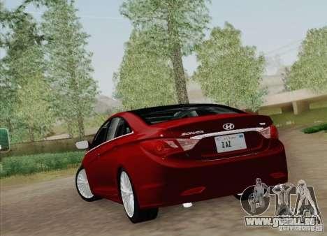 Hyundai Sonata 2012 pour GTA San Andreas vue arrière