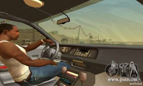 Ford Crown Victoria Pennsylvania Police für GTA San Andreas zurück linke Ansicht