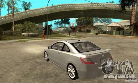 Honda Civic Si - Stock pour GTA San Andreas sur la vue arrière gauche