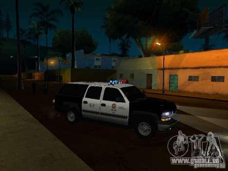 Chevrolet Suburban Los Angeles Police für GTA San Andreas Seitenansicht