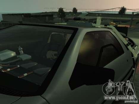 DeLorean BTTF 2 pour GTA 4 vue de dessus