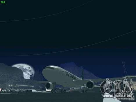 Airbus A330-200 Air Transat pour GTA San Andreas vue intérieure