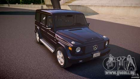 Mercedes Benz G500 (W463) 2008 pour GTA 4 est une vue de l'intérieur