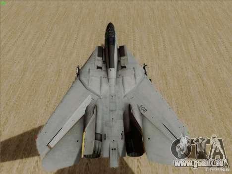 F-14 Tomcat Warwolf für GTA San Andreas Rückansicht