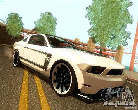 Ford Mustang Boss 302 2011 für GTA San Andreas rechten Ansicht
