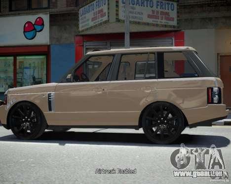 Land Rover SuperSharged pour GTA 4 Vue arrière