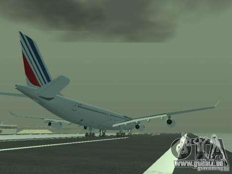 Airbus A340-300 Air France für GTA San Andreas rechten Ansicht