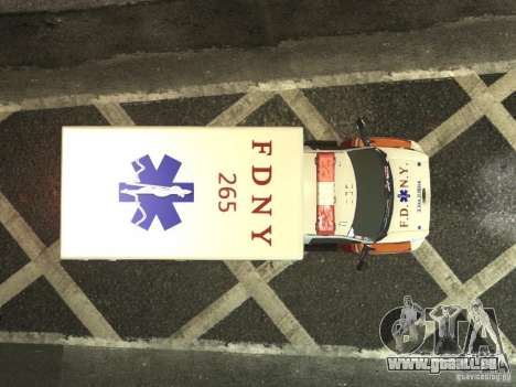 GMC C4500 Ambulance [ELS] pour GTA 4 est une vue de l'intérieur