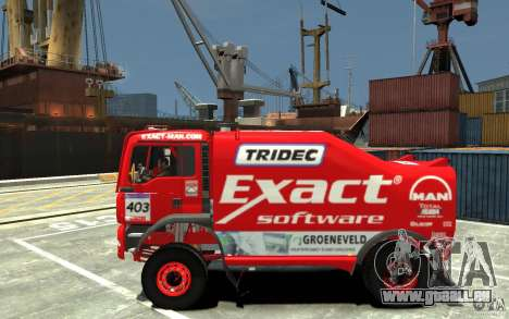 MAN TGA Rally Truck für GTA 4 linke Ansicht