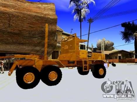 Hayes EQ 142 pour GTA San Andreas vue arrière
