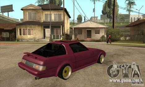 Mazda RX7 SA22C für GTA San Andreas rechten Ansicht